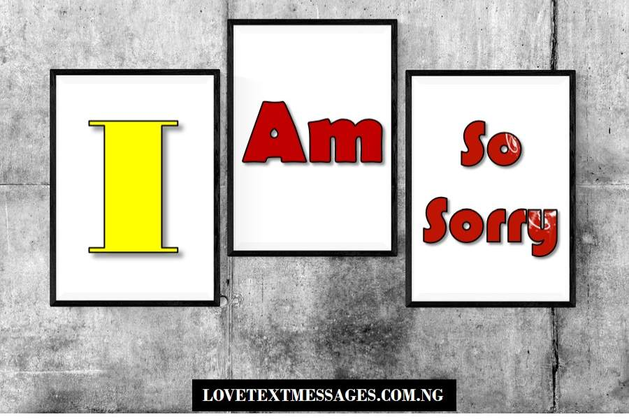 Apology Messages for Him