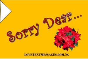 Sweet I Am Sorry Messages for My Man