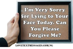 Sweet I Am Sorry for SMS Her
