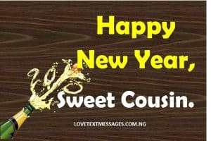 Happy New Year 2018 to Cousin