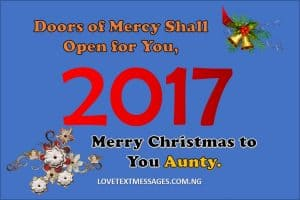 Merry Christmas 2017 to Aunt