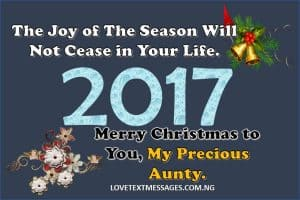 Merry Christmas 2017 to My Aunty