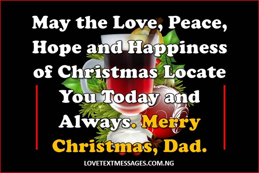 Merry Christmas to My Father