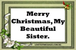 Merry Christmas 2017 to My Sister