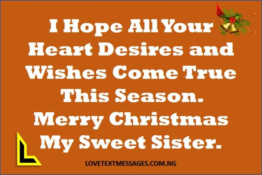 Merry Christmas to Sister