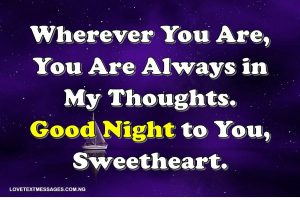 Cute Goodnight Text Messages for Her from the Heart