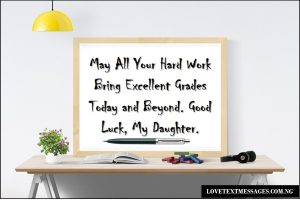 Exam Success Wishes for Your Daughter
