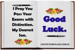 Exam Success Wishes for Your Son