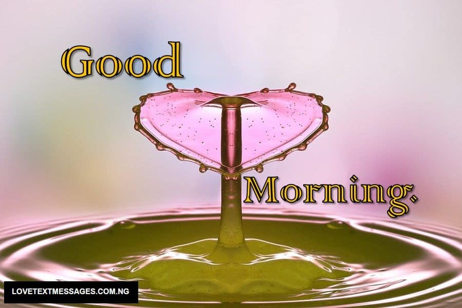 Good Morning Love SMS for Boyfriend