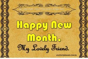 Happy New Month of March for Friend