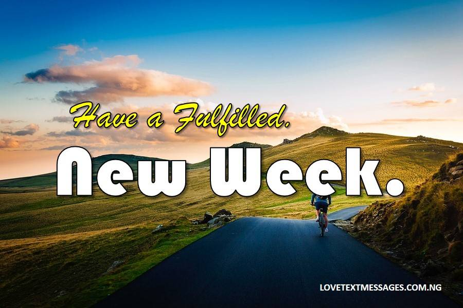 Happy New Week Prayer SMS