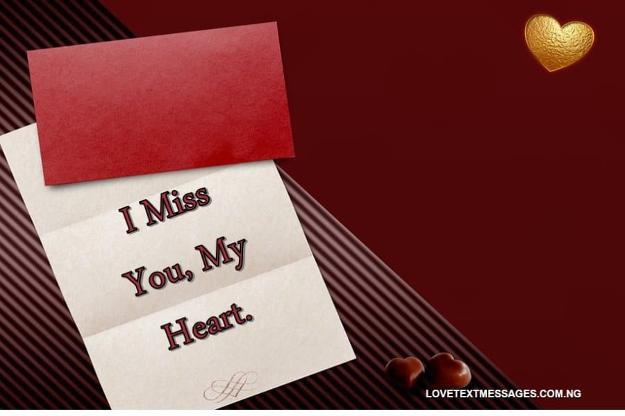 Missing You Love Message