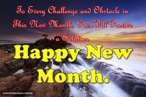 Happy New Month Prayers for Aunt