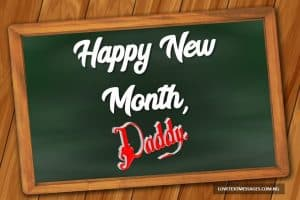 Happy New Month Text Messages for Father