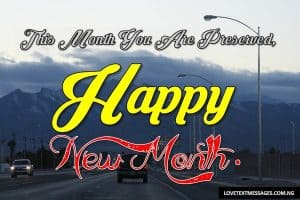 Happy New Month of April to My Husband