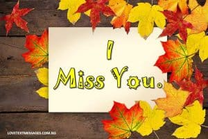 I Miss You Message for My Wife