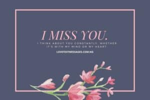 I Miss You Romantic Messages