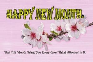 New Month Message for Her
