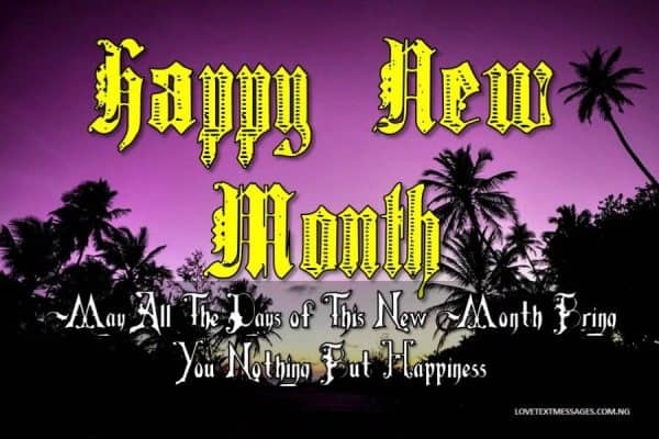 Happy New Month of May