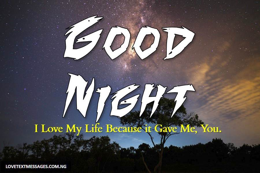 love sms for good night