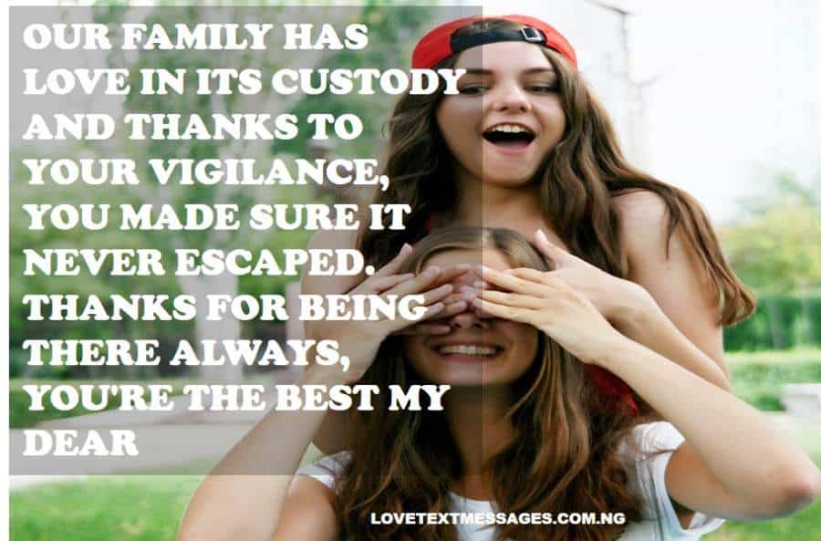 Thank You Quotes for Sister