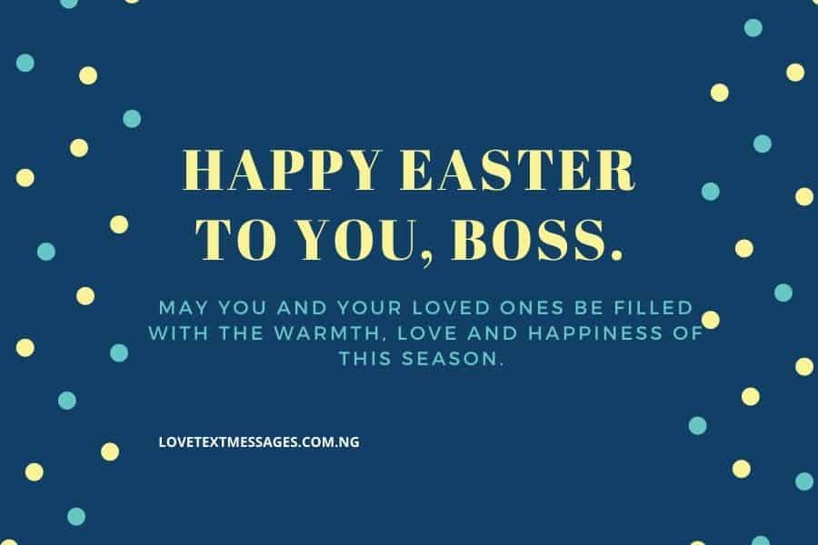 Happy Easter Messages and SMS for Boss