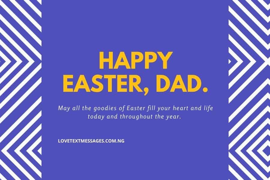 Happy Easter Messages and SMS for Dad