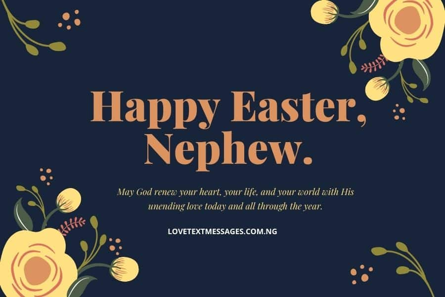 Happy Easter Messages and SMS for Nephew