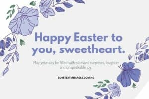 Happy Easter Messages and SMS for Wife