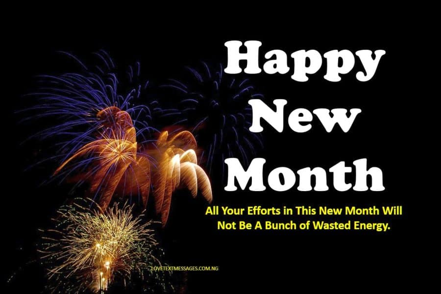 Happy New Month Text Messages for Aunt