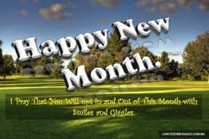 Happy New Month Text Messages for Girlfriend
