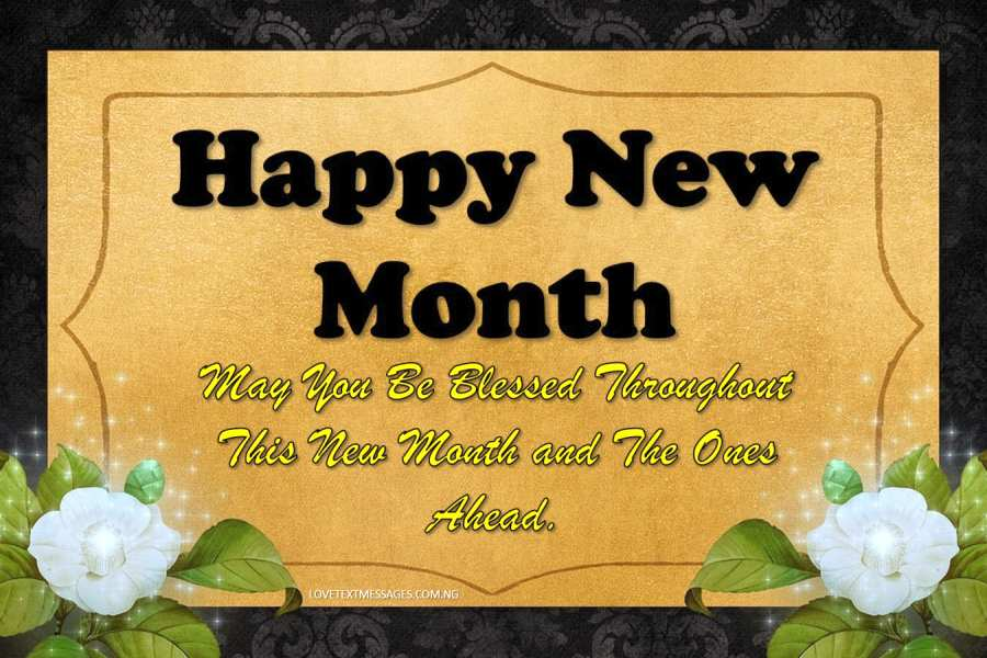 Happy New Month Text Messages for Nephew