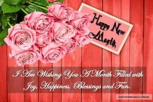 Happy New Month Text Messages for Sister