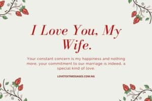 I Love You SMS for Wife
