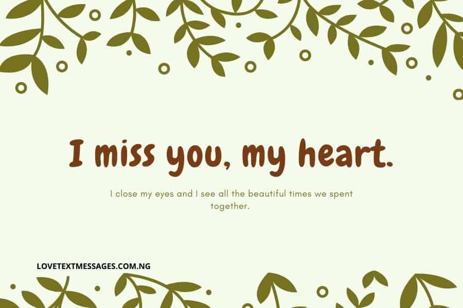 Sweet Missing You Text Messages