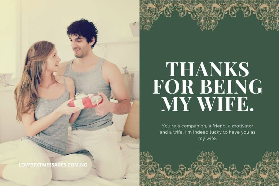 Thank You Quotes for Wife