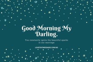 Good Morning Text Message for My Husband