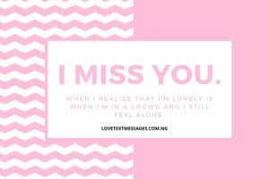 I Miss You Love Message for Wife