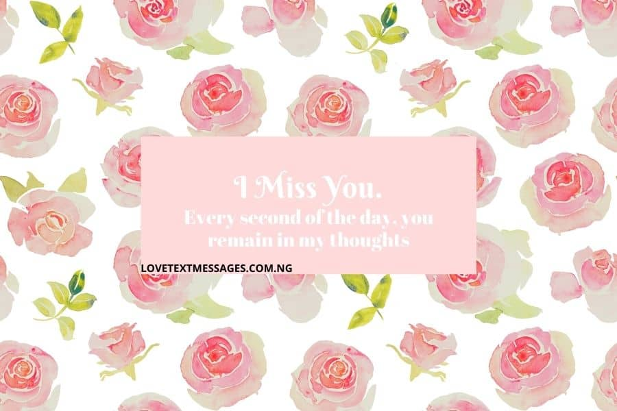 I Miss You Love Messages for My Wife