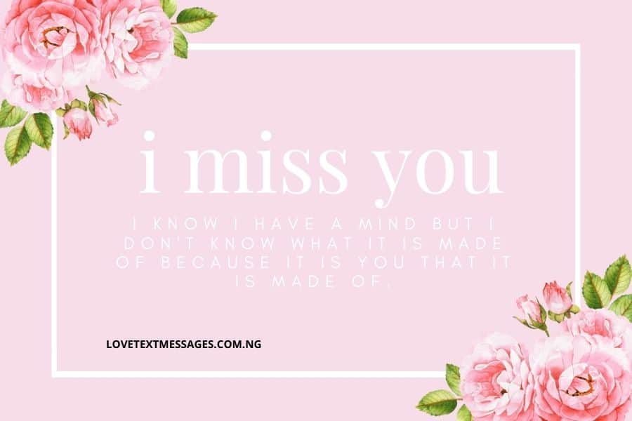 I Miss You Messages for My Wife