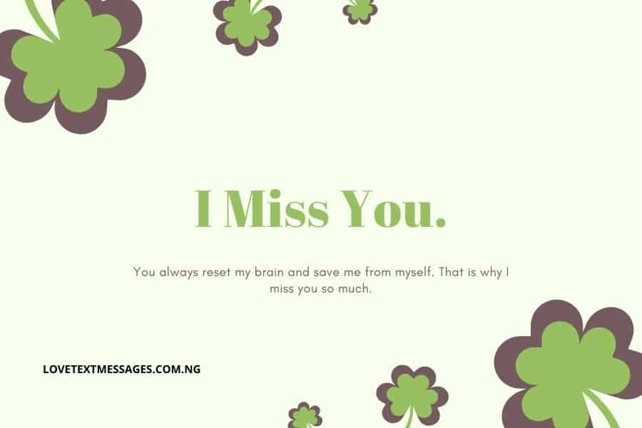 I Miss You Sms for Wife