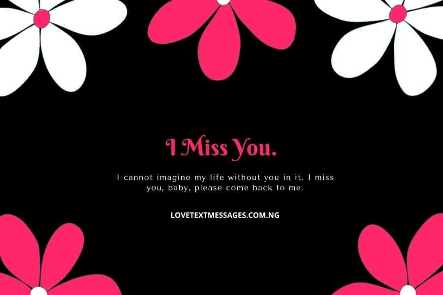 Miss U Sms for Wife