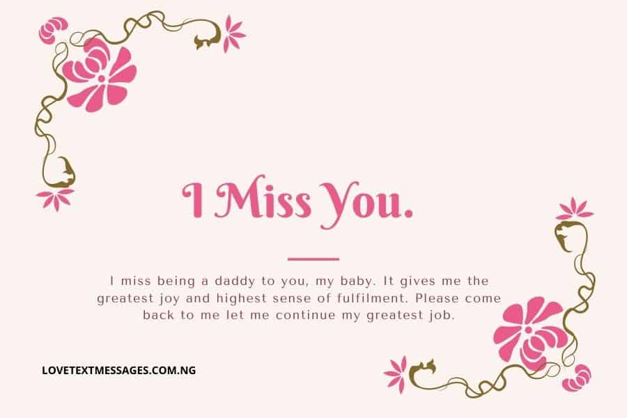 Missing You My Lovely Wife Messages