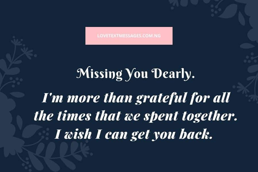 Missing You Text Messages for My Wife