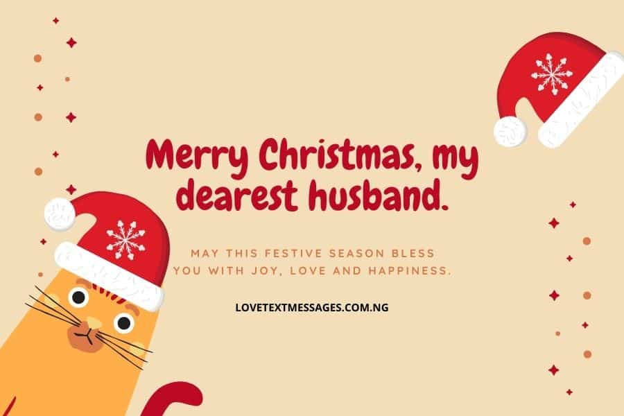 Christmas Greetings, Messages and Wishes for Husband