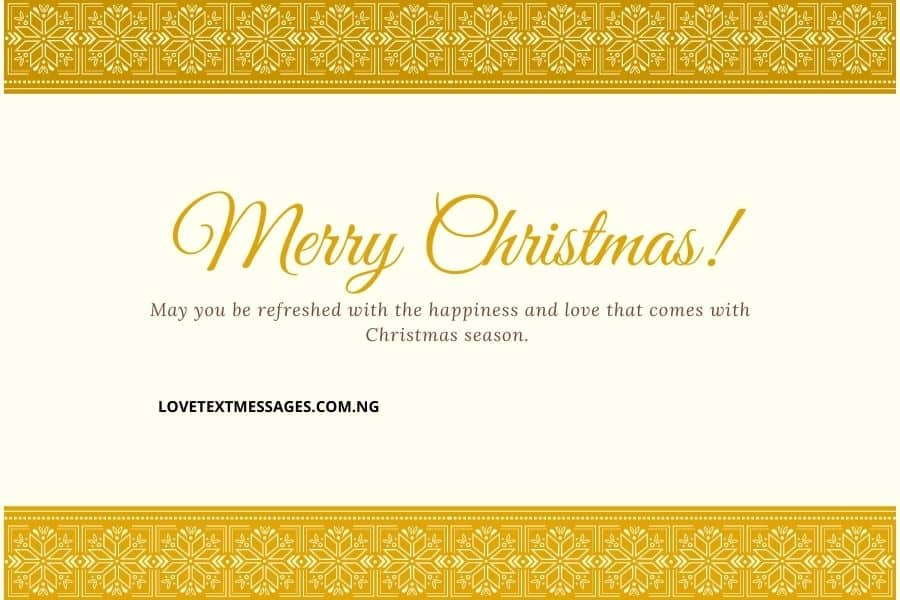 Christmas Greetings, Messages and Wishes for Niece