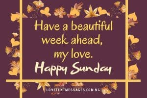Happy Sunday Message to My Sweetheart
