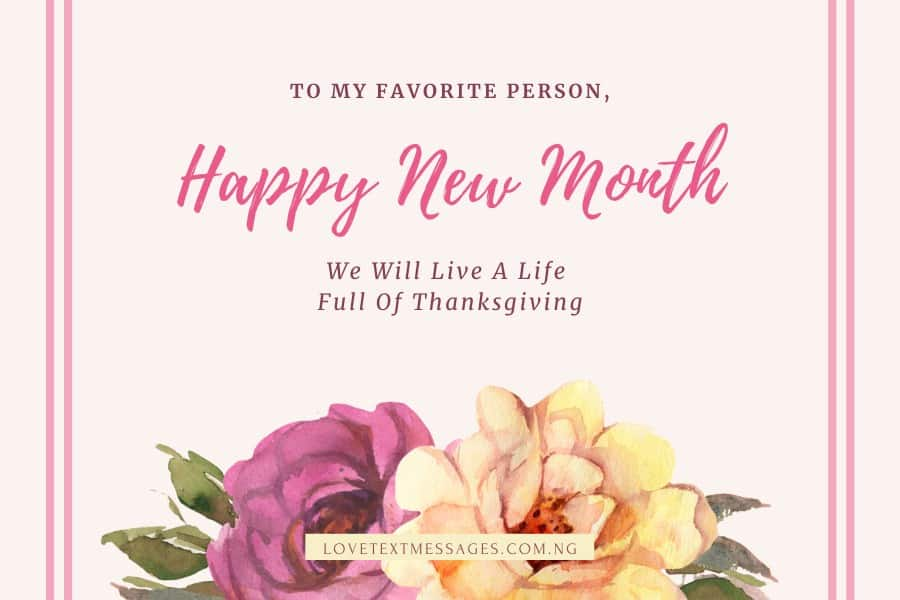 Happy New Month Prayers