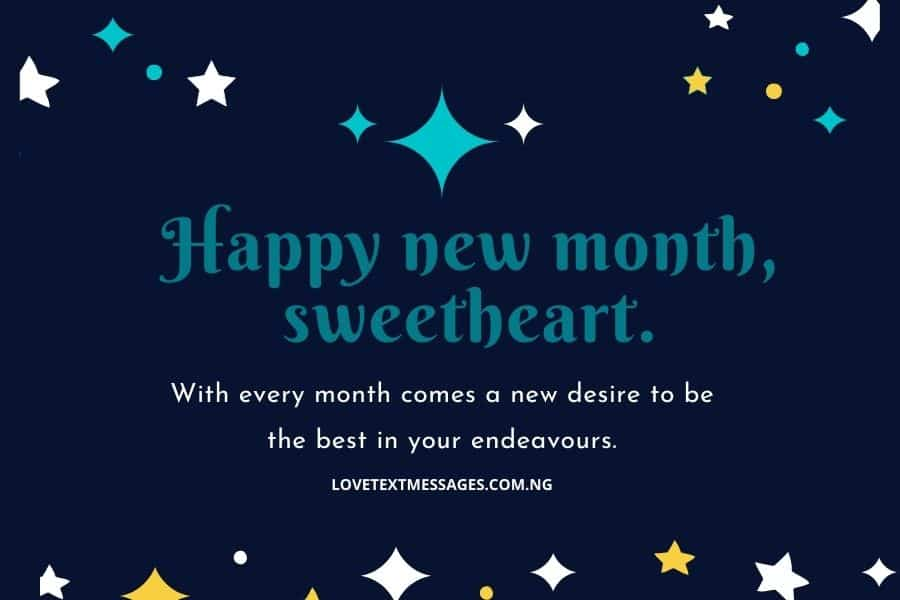 Awesome Happy New Month Message for Her