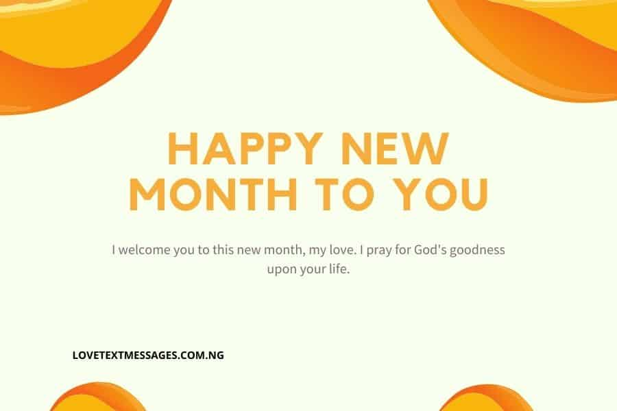 Best Happy New Month Message for Her